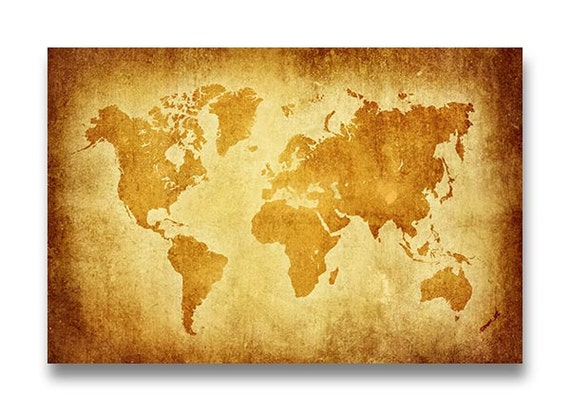 Instant download world map parchment style print poster instant download world map parchment style print poster printable landscape art wall decor vintage ancient old gumiabroncs Choice Image