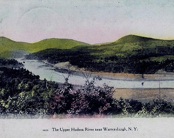 UPPER HUDSON RIVER Near Warrensburgh, N.Y, - Post Card (Used)