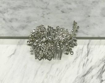 Crystal Bunch Bridal Comb, Bridal Hair Piece, Wedding Hair Piece