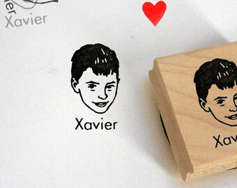 Custom portrait stamp Personalized gift for him / self inking / wood block / mother's day stamping cards mail birthday invites gift ideas