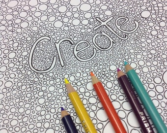 Inspirational Coloring Pages, Adult Coloring Book, Printable Coloring Pages, Geometric Coloring, Downloadable Coloring, Zentangle Patterns
