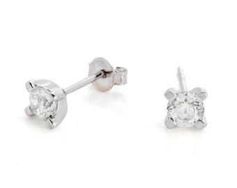 Diamond stud Earrings-14K Yellow Gold Earrings-Graduation gift for her-Baby earring-Girls earrings-Earrings for him-Mother gift-Sister gift