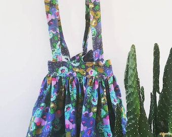 Astrid Skirt - Floral, Suspender, Pinafore, Fall, Fall Skirt, Baby, Toddler, Child, Girl
