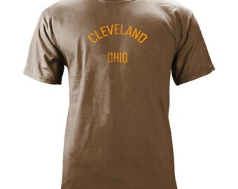 Vintage Cleveland Ohio Gameday Football Team Colors T-Shirt