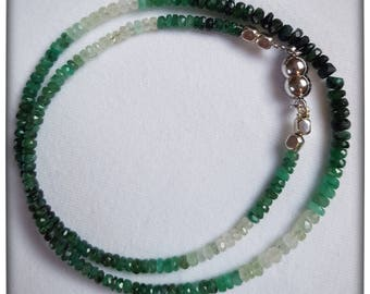 Multicolor Emerald Necklace