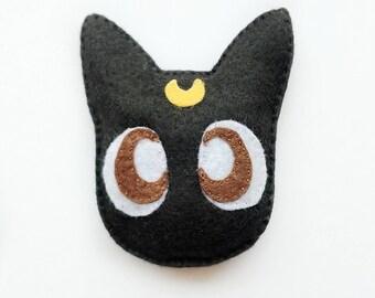 Luna Cat Toy, Sailor Moon Cat Toy, Black Cat Catnip Toy, Anime Cat Toy, Moon Cat Toys, Catnip Toys, Anime Lover Gift, Sailor Moon Gift