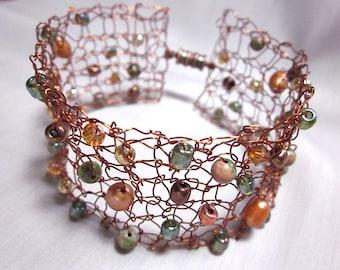 Fashion Jewelry Design cuivre tricot fil Bracelet