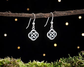 Sterling Silver Tiny Celtic Love Knot Earrings