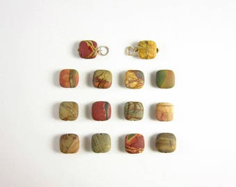 Choose Your Stone - Matte Cherry Creek Jasper Pendant - Fancy Jasper Stone Pendant - Natural Jasper Jewelry Handmade - Gold or Silver Wrap