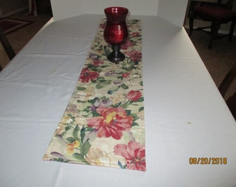 Table runner, floral, home and living, kitchen & dining, dining room, table linens, table, home Decor, bedroom, dresser scarf