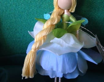 Blue & Green Fairy Doll