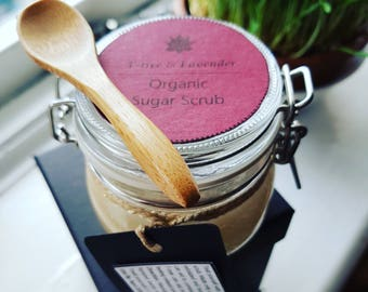 Organic T-tree and Lavender Face and Body Sugar Scrub