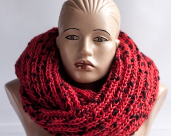 Chunky Knit infinity Scarf, Winter Scarf, Circle Scarf, Gift for Her, Gifts for women, Cowl scarf, Loop Cowl, LoveKnittings