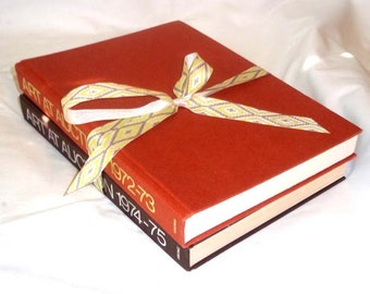 2 Vintage Books Sotheby Parke Bernet ART at AUCTION 1972-73 and 1974-75 HB No Dust Jacket / Book Stack in Shades of Brown