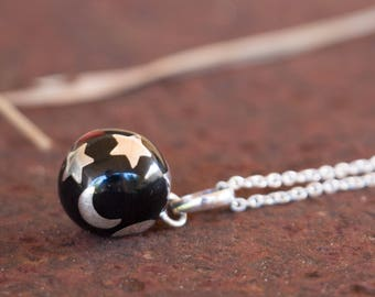 Bola Necklace Charm - Harmony Ball - Chime Ball - Mexican Bola -  Angel Caller - Pregnancy Gift - Sterling Silver - Sphere Pendant Only