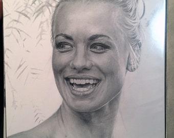 Original Drawing of Yvonne Strahovski (NOT a print)