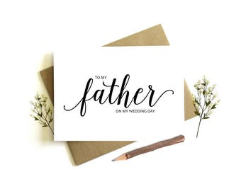To My Father on my Wedding Day Card - Wedding Day Card, To My Father, Father Wedding Card, Dad Wedding Day, To My Dad, Wedding Party, Dad
