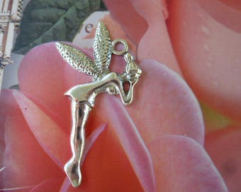 fairy pendant for silver jewelry