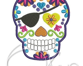 MACHINE EMBROIDERY FILE - Sugar skull, Calavera, Day of the dead