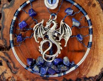 Tree of Life - Lapis Lazuli with Dragon