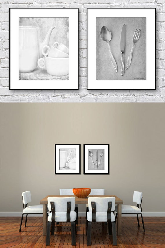 Superb Dining Room Wall Art Kitchen Wall Art Black And White Set Of