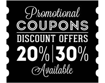DISCOUNT COUPONS! Special promo codes, print offers