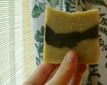 Handmade Spirulina Rosemary Natural soap-Vegan-Palm free-Synthetic free-Toxin free-Cruelty free-Only Natural