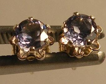 Natural iolite  4.0 mm & earrings sterling silver 925