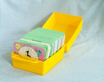 Vintage Original Sesame Street Early Learning Games Flashcards with a case from 1989