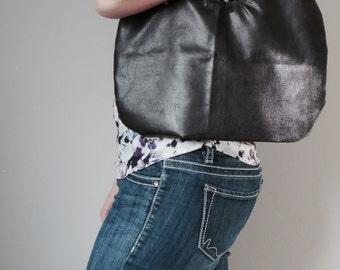 Faux Leather Hobo Bag, Pleather Shoulder Bag