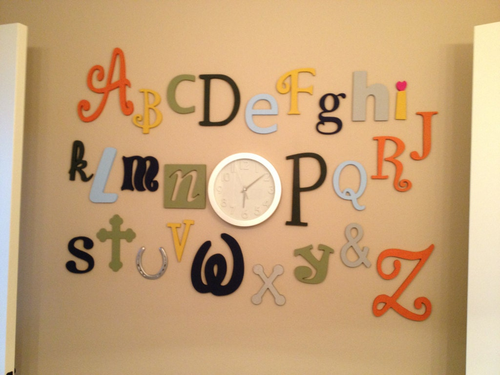 Wooden Alphabet Letter Set PAINTED 5 to 10