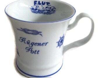 Porcelain cup, coffee pot, mug, oat-rügen-Maritime *