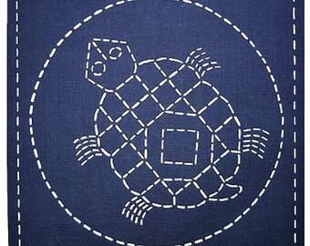 Sashiko Pre-printed Sampler - Sashiko Southwest - Tortoise
