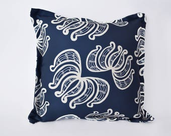"Throw Pillow "" Botanica Blue"""