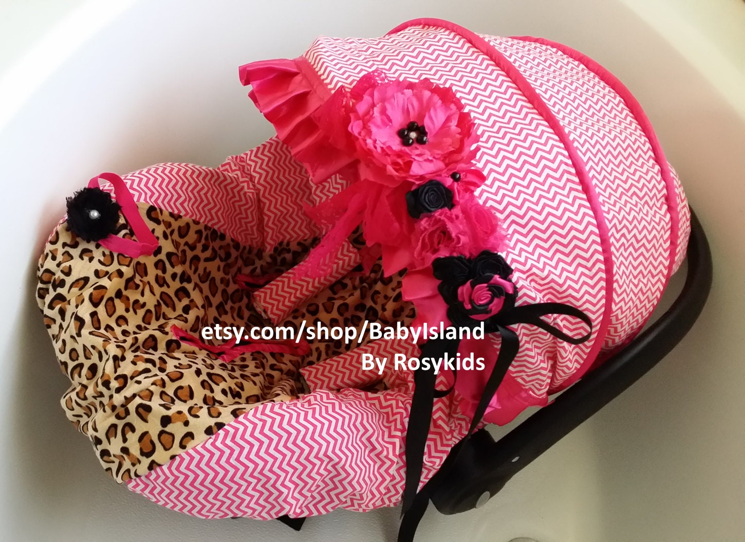 Baby Car Seat Cover Canopy, Infant Car Seat Cover Canopy, Leopard ...