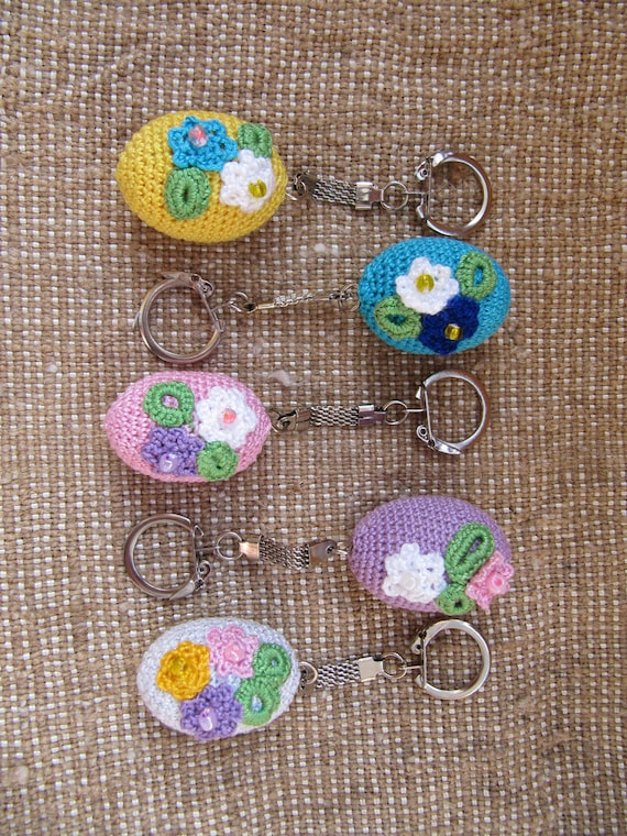 Easter eggs keychain crochet wooden eggs easter basket charm easter eggs keychain crochet wooden eggs easter basket charm easter gift coworker easter gift girlfriend organic happy easter accessories negle Images