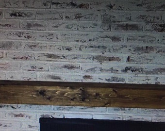 Floating mantle, your choice of stains or barn wood free ship USA