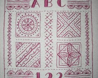 Embroidery Stitch Sampler PDF pattern