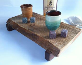 Raised Natural live edged Rough Sawn PINE Serving Board/Bourbon/Cheese