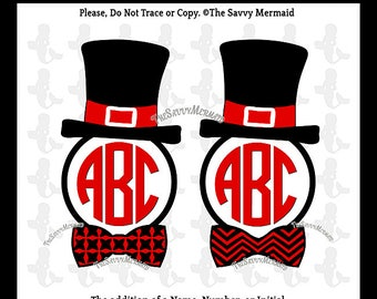 Christmas Monogram SVG Digital Cut file- Snowman Svg- Printable Iron on- Christmas Tie Svg HTV Shirt- Cricut Design- Silhouette Studio Dxf