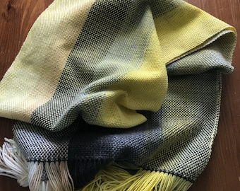 Handwoven shades of grey scarf