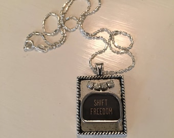 Repurposed, Upcycled Vintage Typewriter Key Pendant Necklace