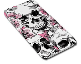Skulls and Cherry Blossom Hipster Phone Case / Cover for iPhone Case / Cover or Samsung Phone Case / Cover - FREE UK DELIVERY