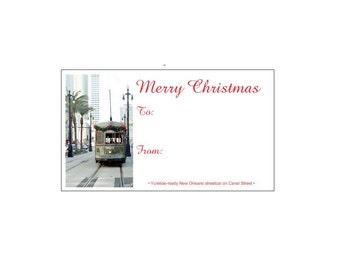 Christmas Streetcar Gift Tags