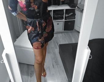 Mademoiselle Satin Shirt Dress