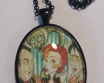 The Dinner Party Fantasy Face Horror Art Pendant Big Eye Pendant