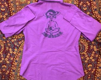 Women's Size 6 Up-Cycled Dress Shirt