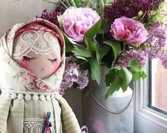 Russian doll matryoshka Zinaida / Russian /ooak/ Art doll cloth doll / doll in cotton