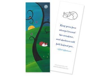 Day and Night Tree Bookmark ~ Fox Sleeping Woodland Favor
