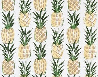 Pineapple Designer Fabric Home Decor Fabric Upholstery Fabric - 1/2 Yard
